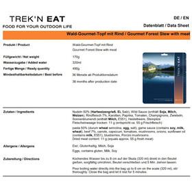 Trek'n Eat Repas outdoor Viande 160g, Gourmet Pot with Beef